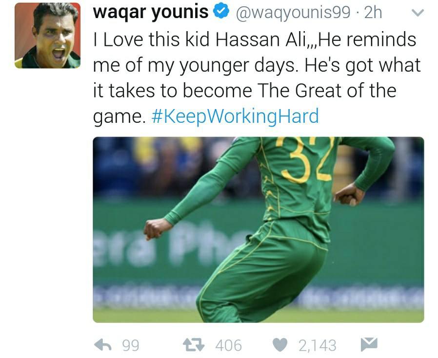 Waqar Younis About Hasan Ali