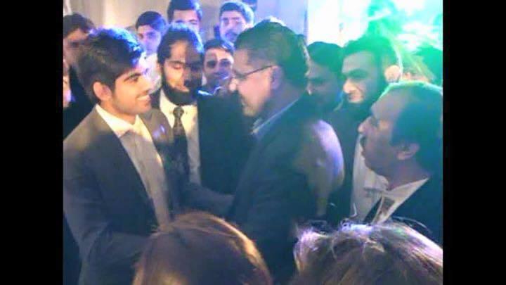 Waqar Younis At Haris Sohail Walima