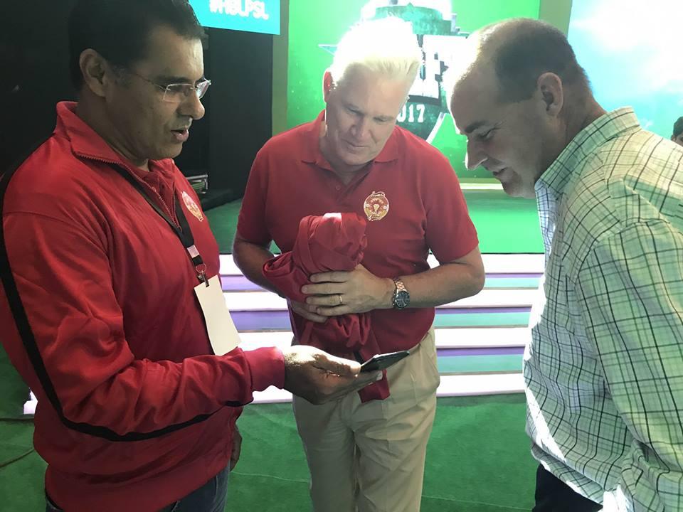 Waqar Younis, Dean Jones & Mickey Arthur At PSL Drafts