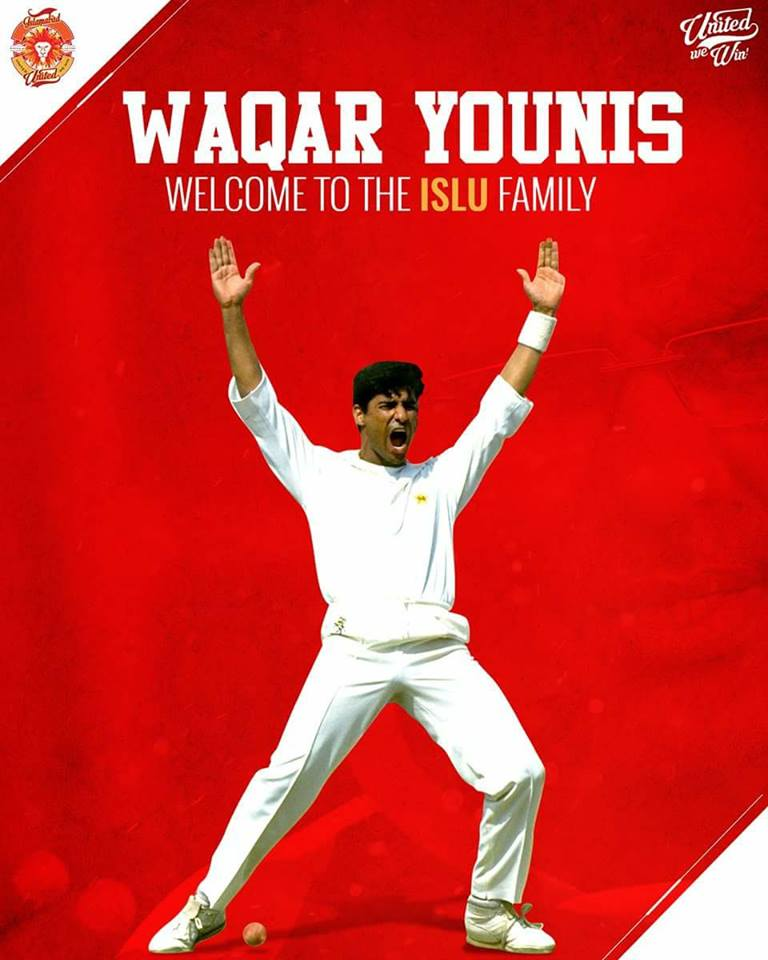 Waqar Younis Joined Islamabad United As A Director Of Cricket