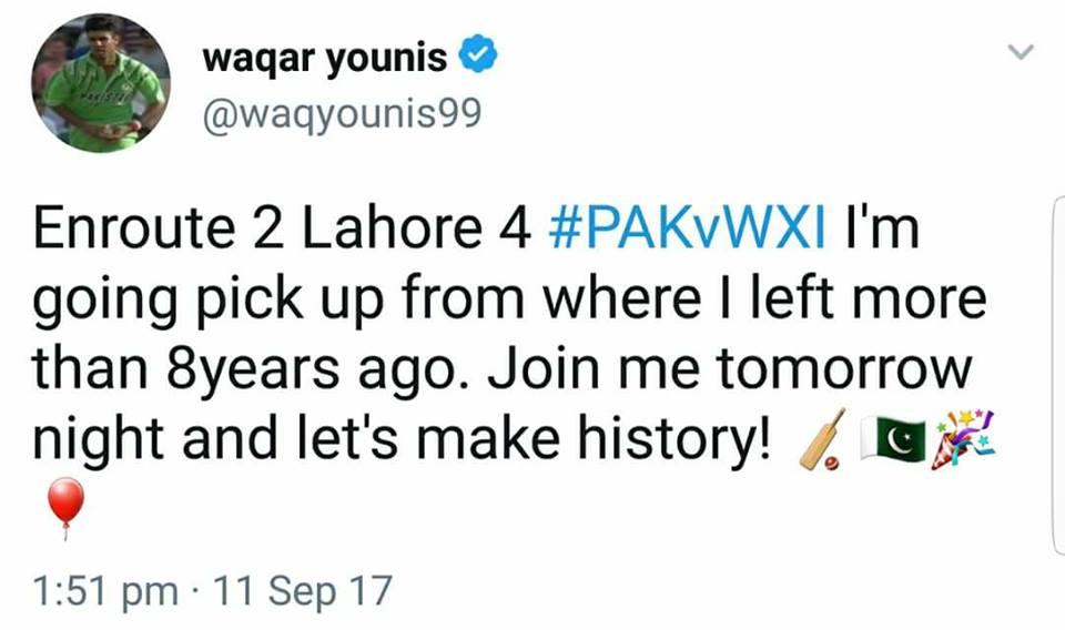 Waqar Younis Tweet