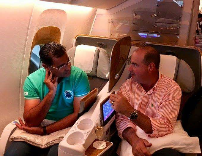 Waqar Younis & Micky Arthur Having A Chat On The Way To Lahore