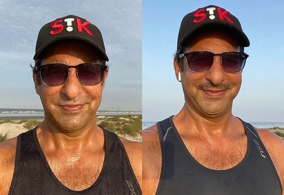 Waseem Akram Share His Post With Moustache Or Without Moustache