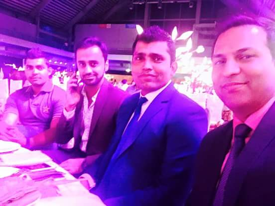 Waseem Badami with Cricketers at Launch of PSL Event