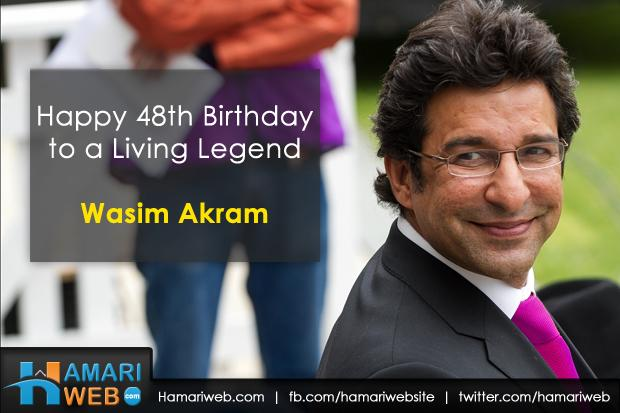 Wasim Akram 48th Birthday - June 3 2014