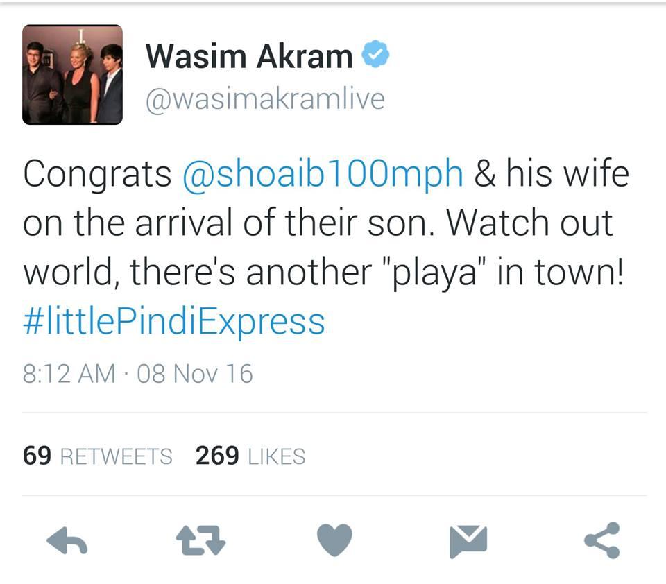 Wasim Akram Congratulates Shoaib Akhtar