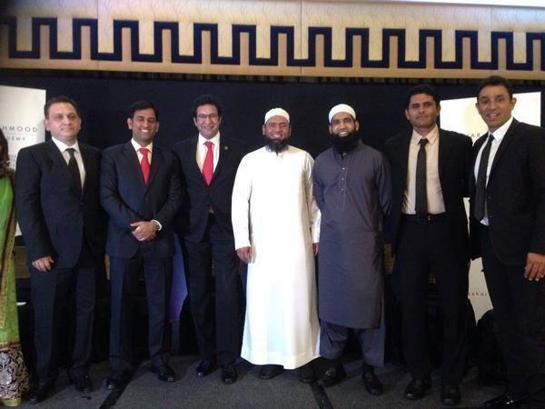 Wasim Akram, MS Dhoni, Saqlain Mushtaq, M Yousuf And Azhar Mahmood At London