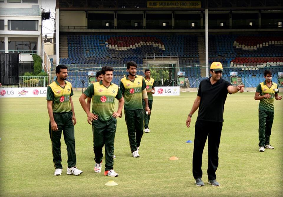 Wasim Akram Training Young bowler At PCB Training Camp