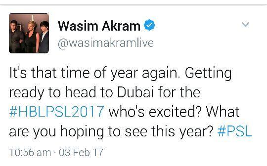 Wasim Akram Tweet