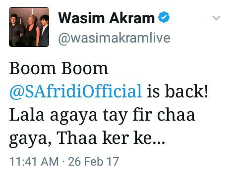 Wasim Akram Tweets