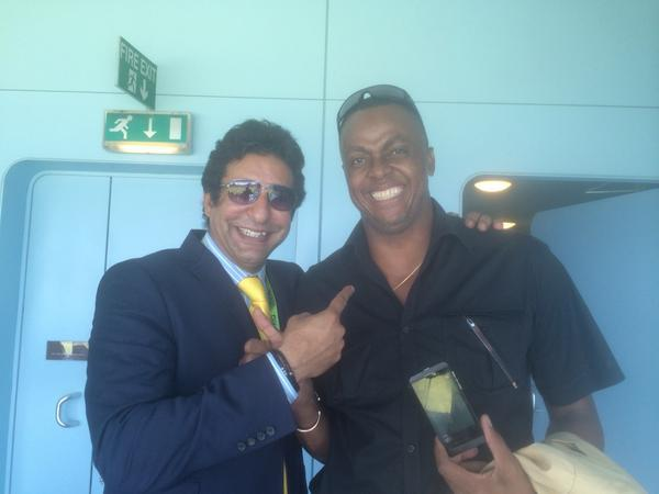 Wasim Akram With Courtney Walsh