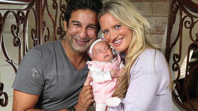 Wasim and Shaniera With Their Daughter Ayla