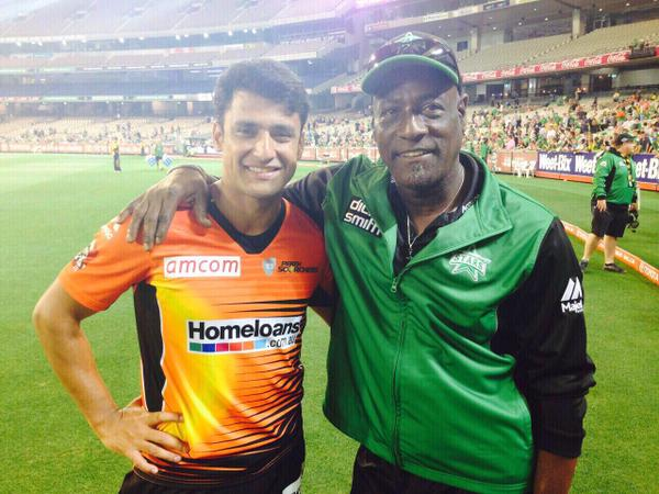 Yasir Arafat With Viv Richards