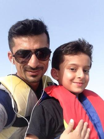 Yasir Hameed With Son Ammar