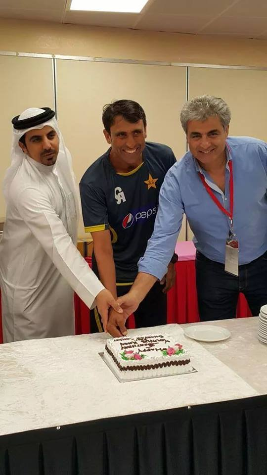 Younis Khan Celebrated His Birthday In Sharjah