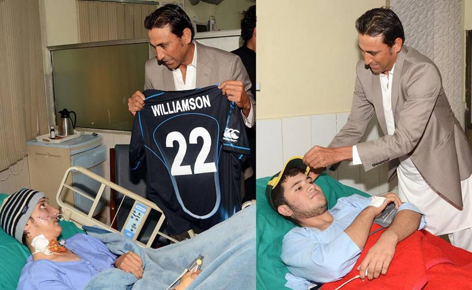 Younis Khan Delivers NZ Donations To Pakistan School Attack Victims