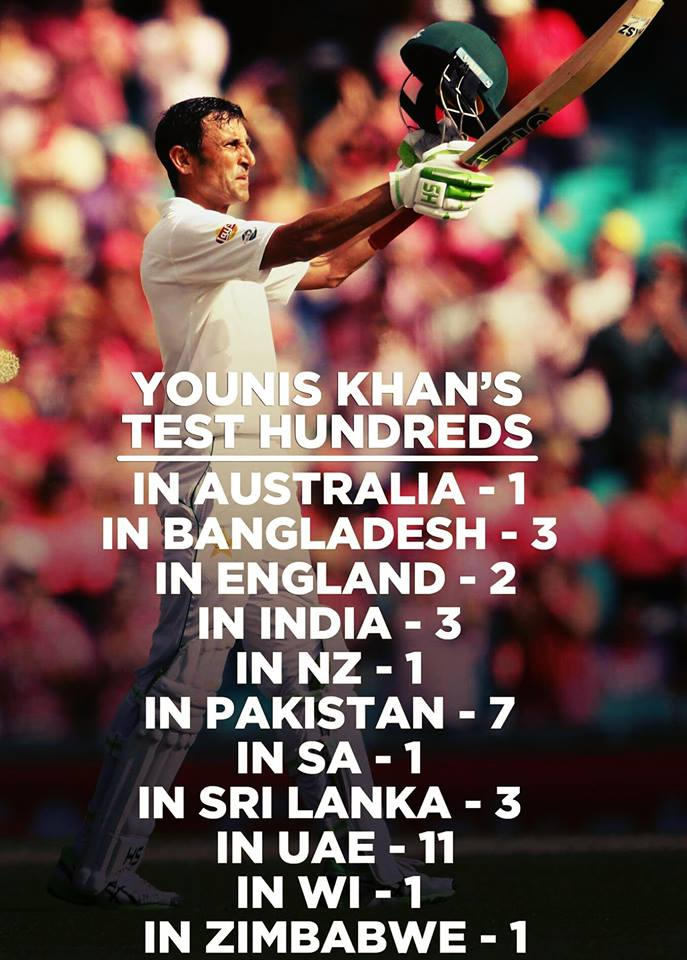 Younis Khan Test Hundreds