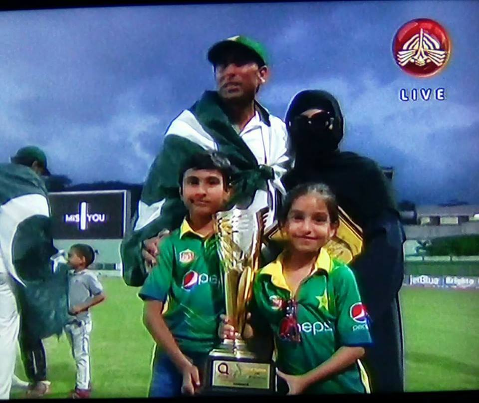 Younis Khan With His Family