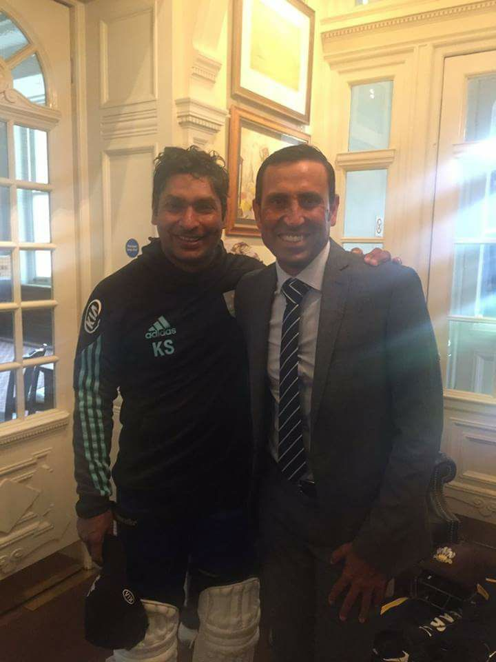 Younis Khan With Kumar Sangakara At Lords