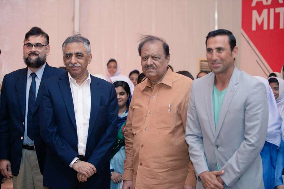 Younis Khan With President Mamnoon Hussain & Governor Sindh Mohammad Zubair