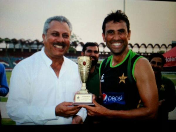 Younis Khan's Team Tigers Win Football Match