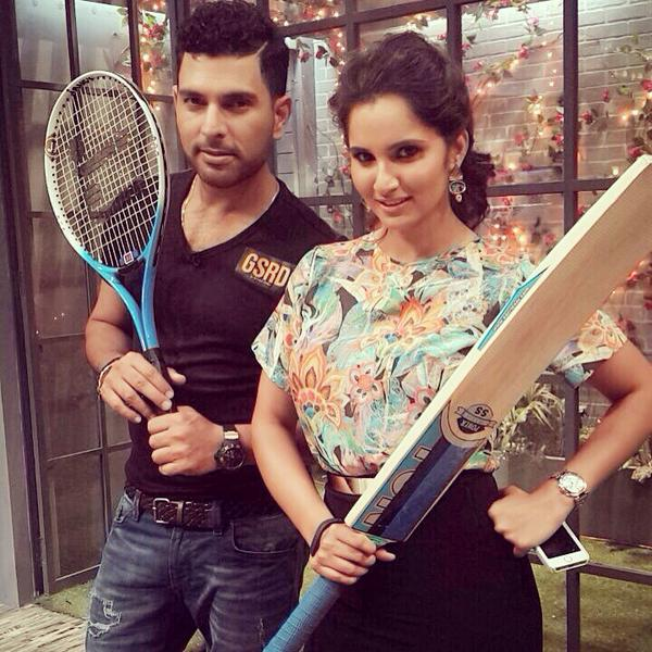 Yuvraj Singh And Sania Mirza