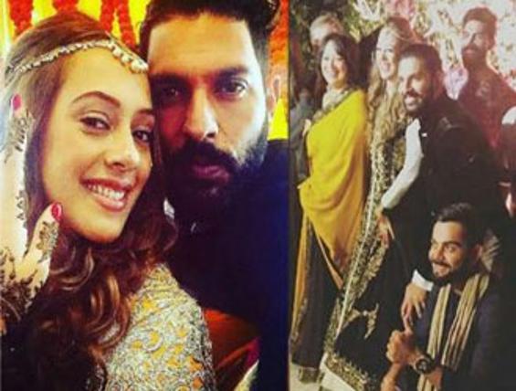 Yuvraj Singh Hazel Keech Wedding Pics