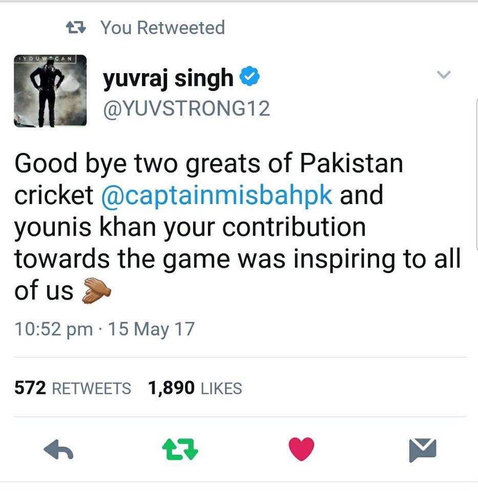 Yuvraj Singh Tweets