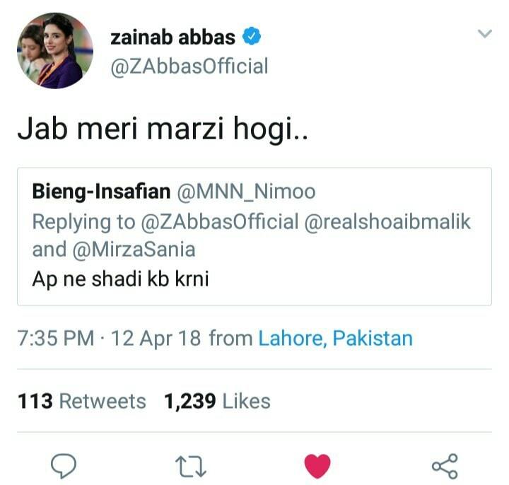 Zainab Abbas Tweets