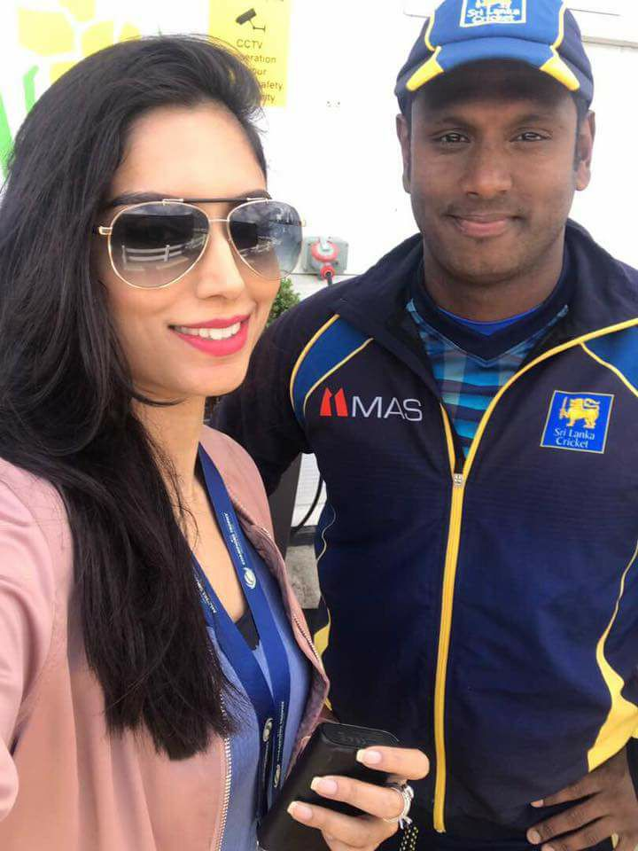 Zainab Abbas With Sri Lankan Captain