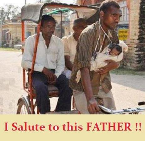 I Salute to This Father!!!