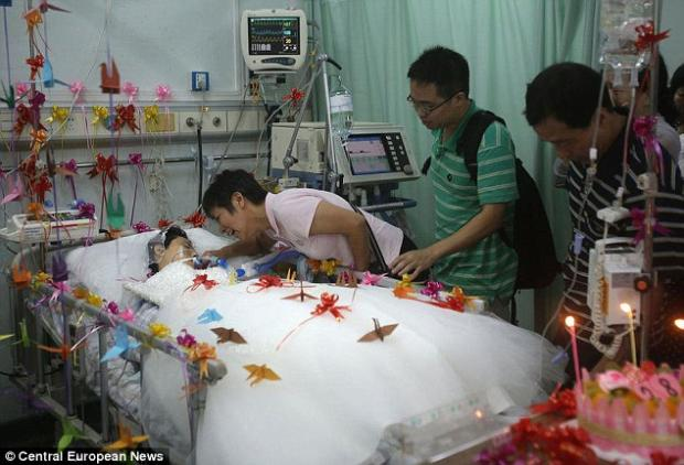 Woman gets married in coma
