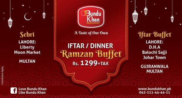 Bundu Khan Iftar And Sehri Deals 2018