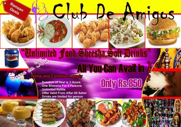 Club De Amigos Iftar And Sehri Deals 2014