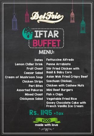 Del Frio Iftar And Sehri Deals 2018