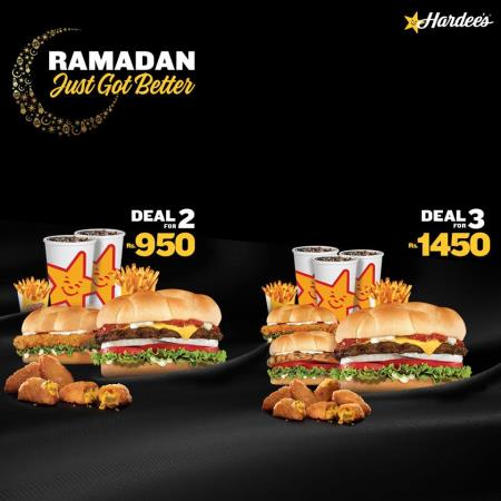 Hardees Iftar And Sehri Deals 2018