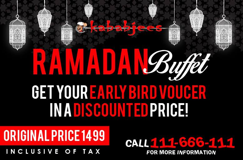 Kababjees Iftar deals 2016