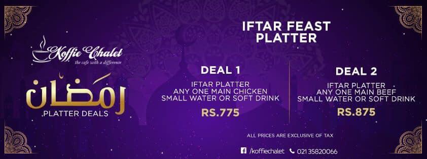 Koffie Chalet Iftar Deal 2019