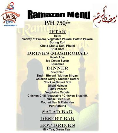 Lavish Dine Iftar And Sehri Deals 2014