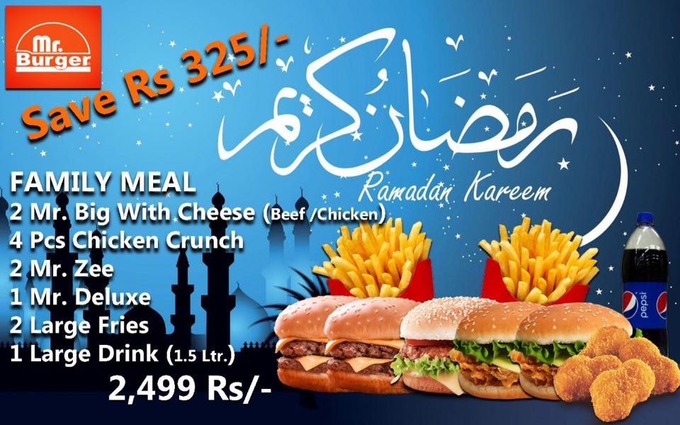 Mr. Burger Ramadan Deal 2019