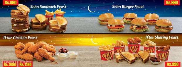 Optp Iftar And Sehri Deals 2017
