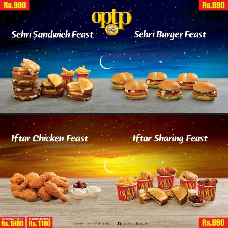 Optp Iftar And Sehri Deals 2018