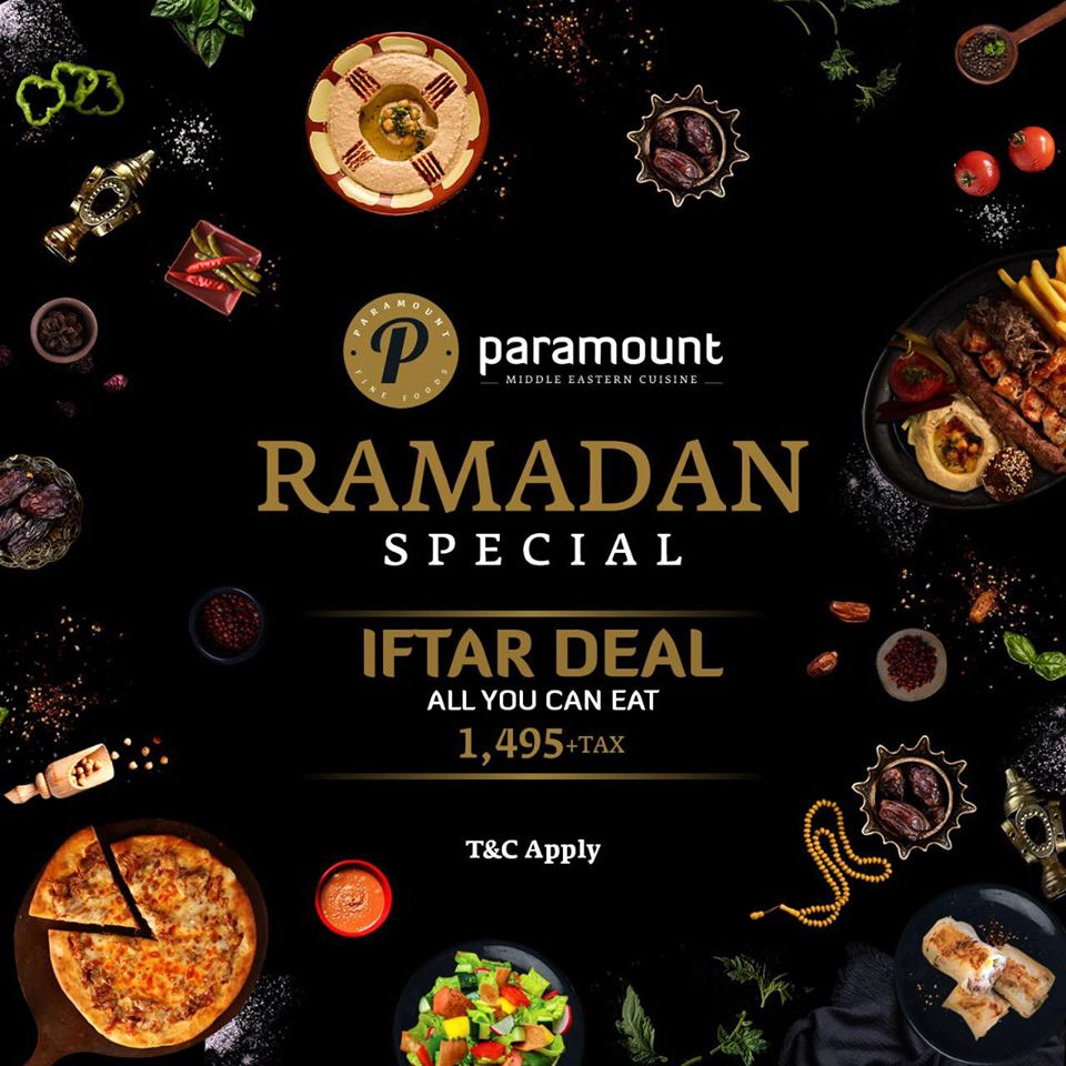 Paramount Fine Foods Iftar Deal 2019