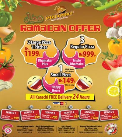 Pizza Point Iftar And Sehri Deals 2018