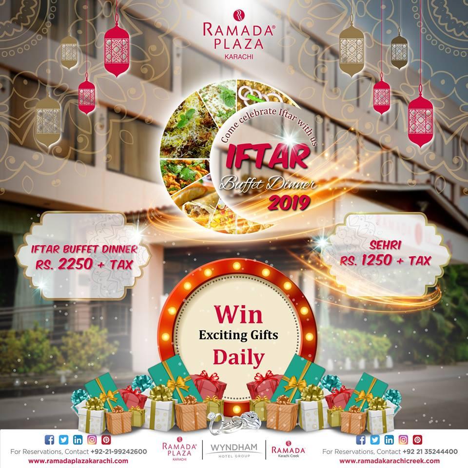 Ramada Plaza Karachi Hotel Iftar Buffet Dinner 2019
