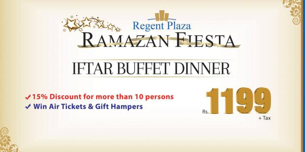 Regent Plaza Iftar And Sehri Deals 2014