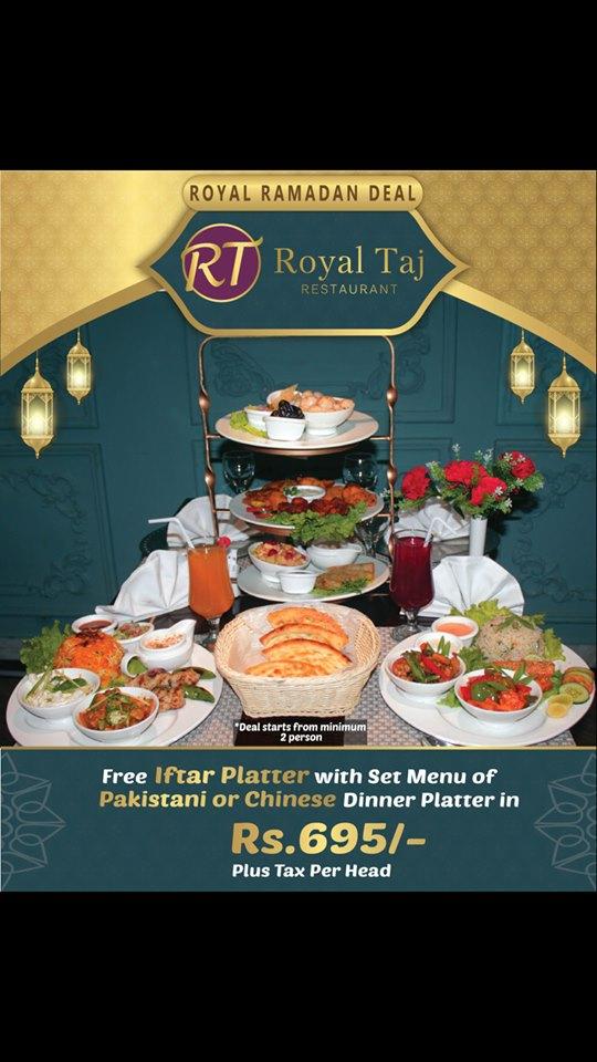 Royal Taj Restaurant Ramadan Deal 2019
