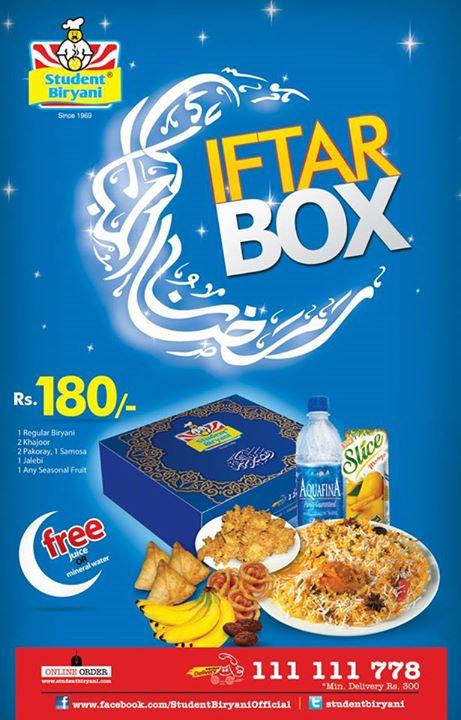 Student biryani ramadan deals 2018