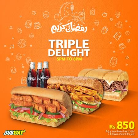 Subway Iftar And Sehri Deals 2018