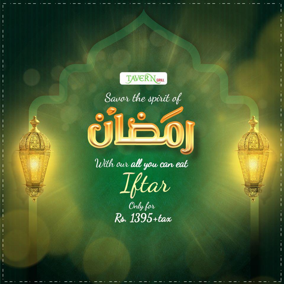 TaverNGrill Sehri & Iftar Deals 2017